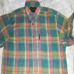 Clearwater outfitters Shirts - CLEARWATER pastel plaid XL short sleeve shirt